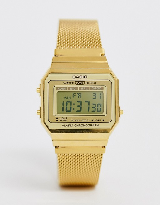 Casio Vintage Revival mesh watch | AS