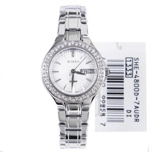 EDGI - Malaysia Online Shopping Time Pieces - Casio Sheen Silver .