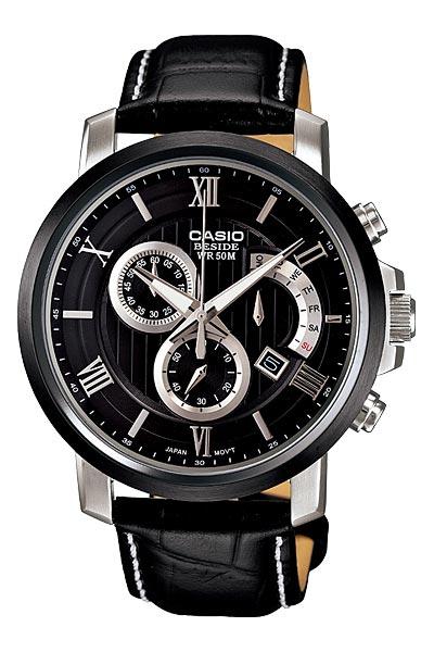 Casio Beside Men''s Chrono Retrograde Watch BEM-507BL-1AV .
