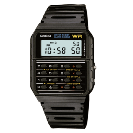 Casio - Casio Men's Vintage Calculator and Calendar Watch CA53W-1 .