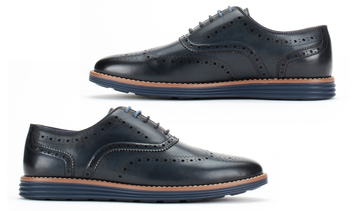 Up To 62% Off on Men's Wingtip Oxford Shoes   Groupon Goo