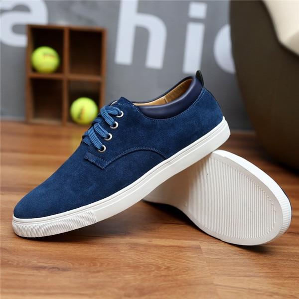 2018 New Fashion Suede Men Flats Shoes Canvas Shoes Male Leather .
