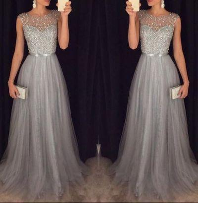 Fashion Prom Dresses Beaded Top With Tulle Skirt pst0975 – BBDressi