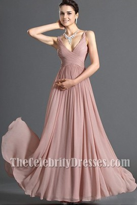 Discount V-neck Chiffon Prom Dress Evening Formal Dresses .