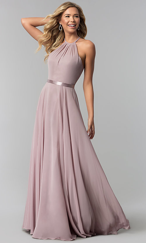 Formal A-Line Chiffon Long Formal Prom Dress- PromGi