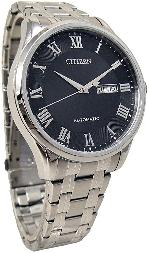 Amazon.com: Citizen NH8360-80E Men's Stainless Steel Roman Black .