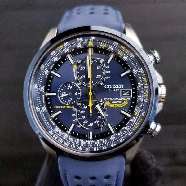 CITIZEN Automatic Quatz Watches Blue Angels World Chronograph .