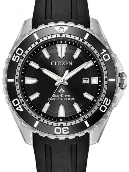 Citizen Eco-Drive Promaster Black Dial Dive Watch #BN0190-1