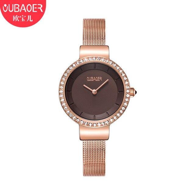ladies watches oubaoer brand luxury womens wristwatches quartz .