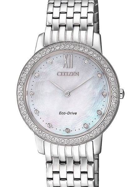 Citizen EX1480-82D Eco-Drive Watch with Swarovski crystals and .