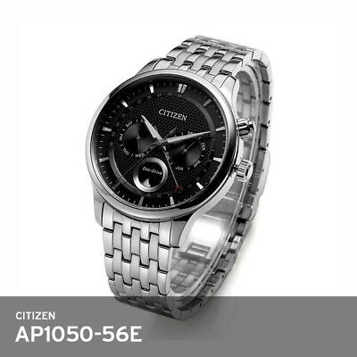 Citizen Mens Watch AP1050-56E Eco-Drive Moon Phase Sapphire 42mm .