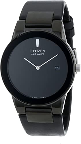 Amazon.com: Citizen Men's Eco-Drive Axiom Watch with Black Leather .