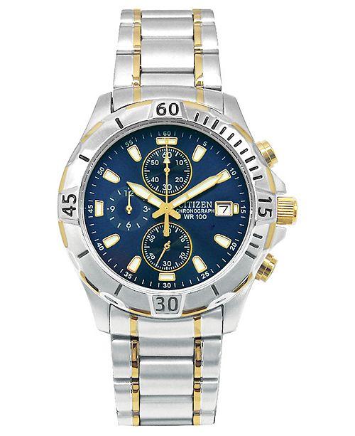 Citizen Men's Chronograph Two Tone Stainless Steel Bracelet Watch .
