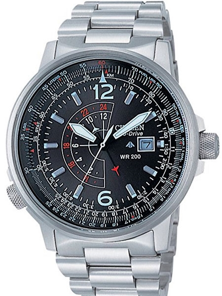 Citizen Promaster Eco-Drive Pilot Watch with dual time #BJ7010-5
