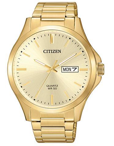 Citizen Quartz Mens Watch - Gold-Tone - Champagne Dial - Day/Date .