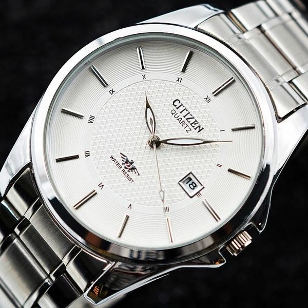 CITIZEN Quartz Watch Stainless Steel Band Wrist Watch Fashion .