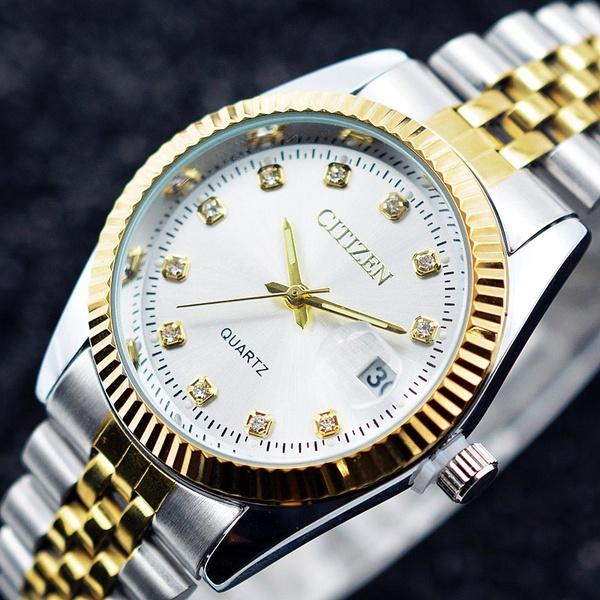 CITIZEN Quartz Watch Men Stainless Steel Band Gold Wrist Watch | Ge