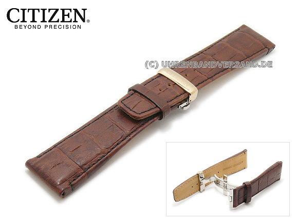 Replacement watch strap CITIZEN BT0078-00E 25mm dark brown leather .