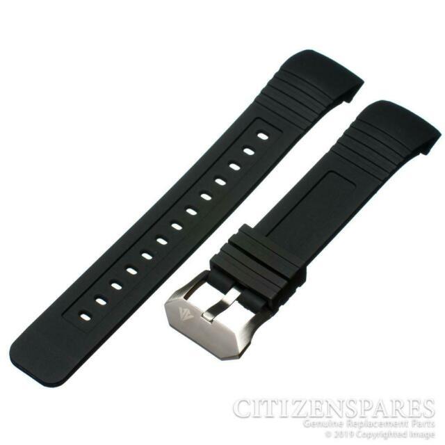 Citizen Eco-drive Bj2120-07e 23mm Black Rubber Watch Band S062764 .