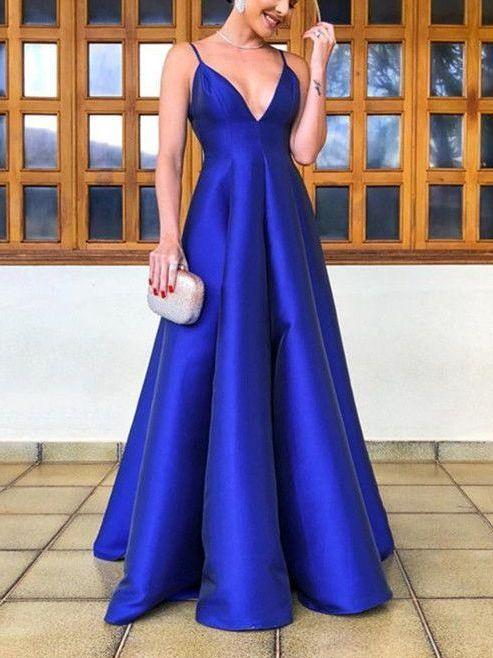 Cheap Classy Simple Royal Blue Prom Dress,Occasion Dress,GDC1065 .