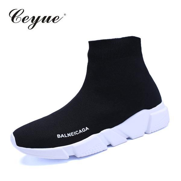 Women Walking Shoes BALNEICAGA Slip on Socks Shoes Female .