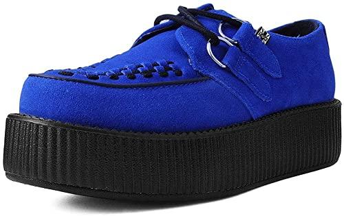 Amazon.com   T.U.K. Shoes V9546 Unisex-Adult Creepers, Blue Suede .