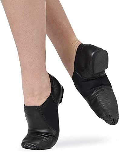 Amazon.com | Dance Basix Leather Slip-On Split Sole Jazz Shoes .