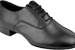 Amazon.com | Go Go Dance Shoes Men's Black Leather Ballroom Shoes .
