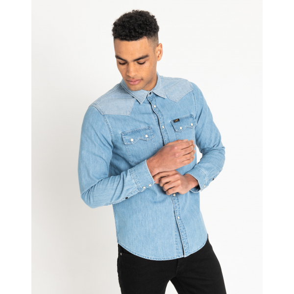 Rider Shirt | Men - Denim Shirts | Reversed Worn | Lee | Euro