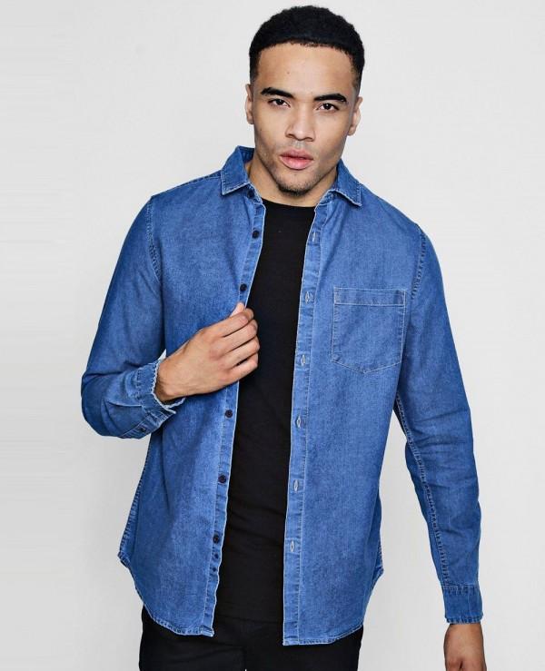 New Look Men Fashion Denim Shirt Wholesale Manufacturer .