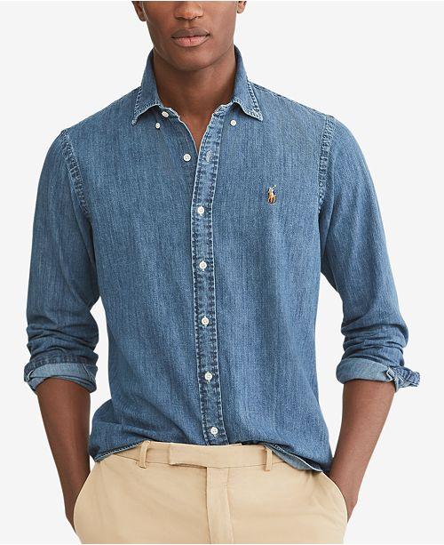 Polo Ralph Lauren Men's Classic-Fit Denim Shirt & Reviews - Casual .