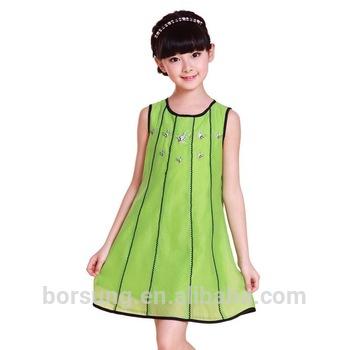 Top Fashion Brand Designer Stripes Baby Girl Summer Dress .