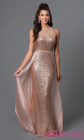 Long Sequin Designer Prom Dress by Elizabeth K | Sequence dress .