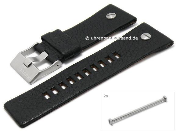 Replacement watch strap DIESEL DZ7125 28mm black leath