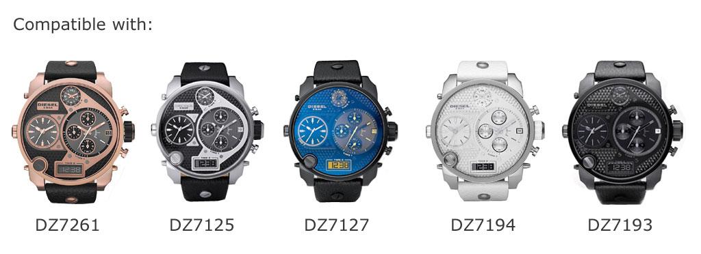 Set of 4 Watch Batteries For DIESEL Big & Mr Daddy DZ7261, DZ7125 .