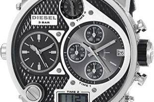 Amazon.com: Diesel Men's DZ7125 Black SBA Oversized Dual-Display .