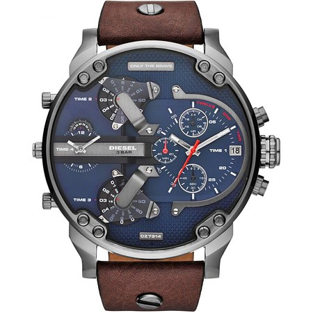 Diesel Mr Daddy 2,0 Men`s Watch With 4 Time Zone , 2 Years .
