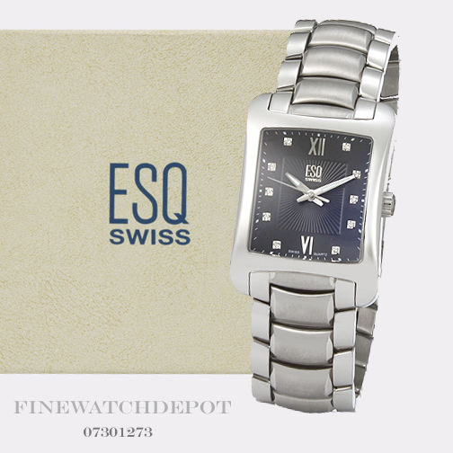 Authentic Men's ESQ Swiss Stainless Steel Verona Watch 07301273 .
