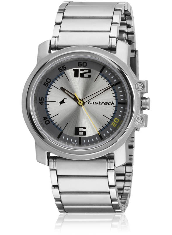 Buy Fastrack 3039Sm05-D328 Silver/Brown Analog Watch Online .
