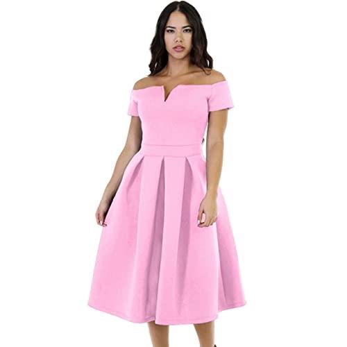 Plus Size Pink Dress: Amazon.c