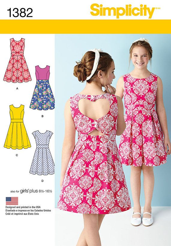 Plus Size Girls' Sundresses - Simplicity 1382 See it at Oh Sew .