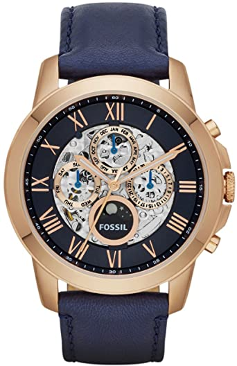 Amazon.com: Fossil Men's ME3029 Grant Automatic Watch With Blue .