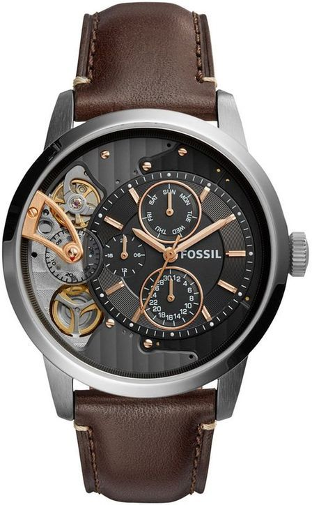 Men's Fossil Townsman Leather Strap Automatic Watch ME11
