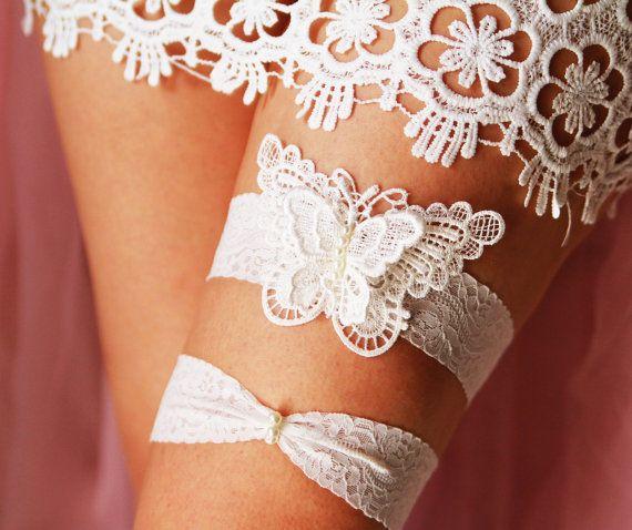 Wedding Bridal Garter Set Garter Belts - Alice in Wonderland .
