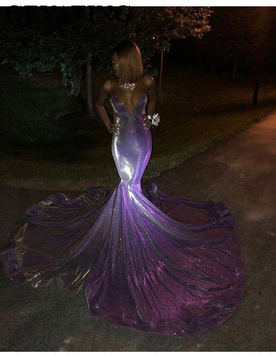 Glitter Long Mermaid Black Girl Prom Dresses 2019 Off Shoulder .