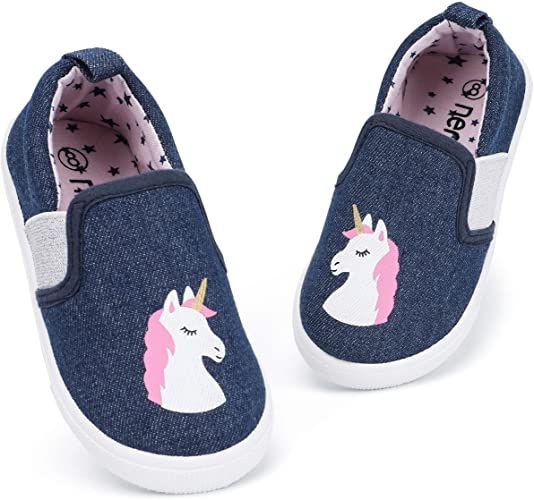 Amazon.com | RANLY & SMILY Toddler Girls Shoes Slip On Casual .
