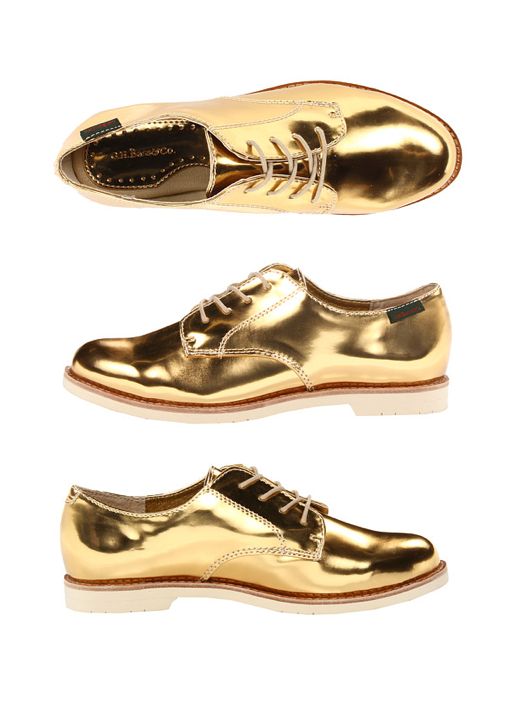 Metallic Gold Oxfords / Also available in silver | Gold dress .