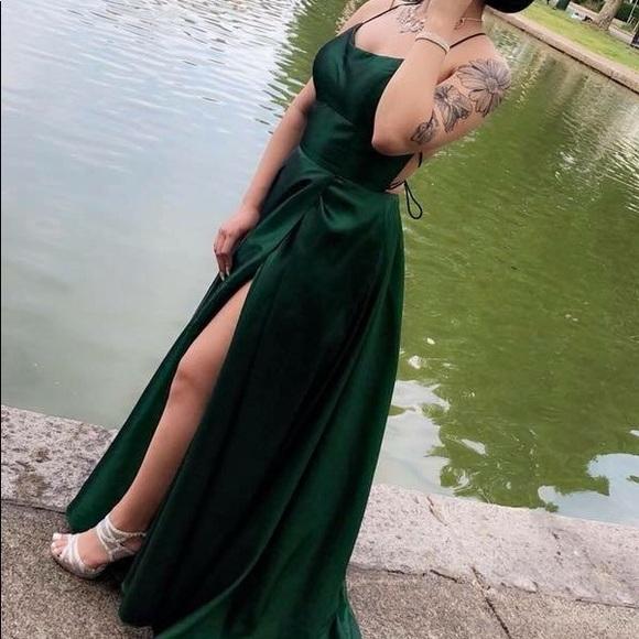 Dresses   Hunter Green Prom Dress   Poshma