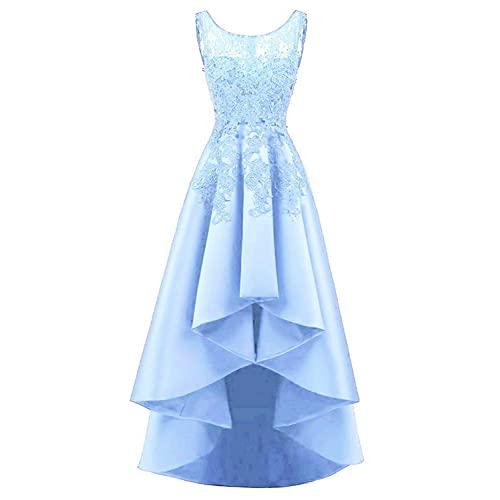 Blue Lace High Low Prom Dress: Amazon.c