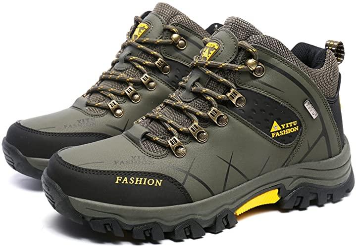 Amazon.com   GOMNEAR Hiking Boots Men High Top Trekking Shoes .